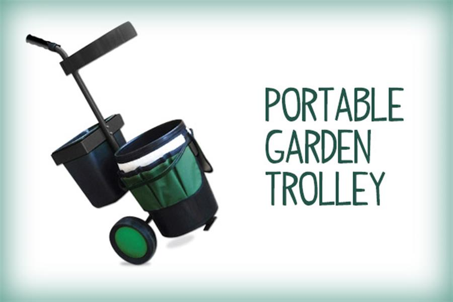 Delivered Portable Garden Trolley With Tool Organiser